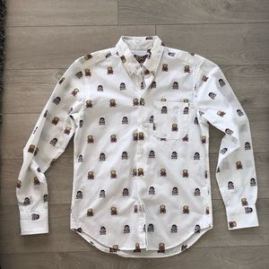 Naked & Famous printed button up